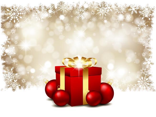 Presentes de Natal e bugigangas vetor