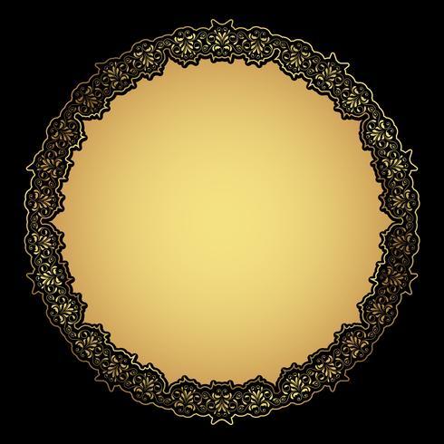 Decoratief gouden frame