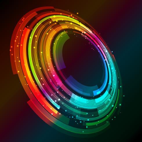 Fundo abstrato design circular vetor