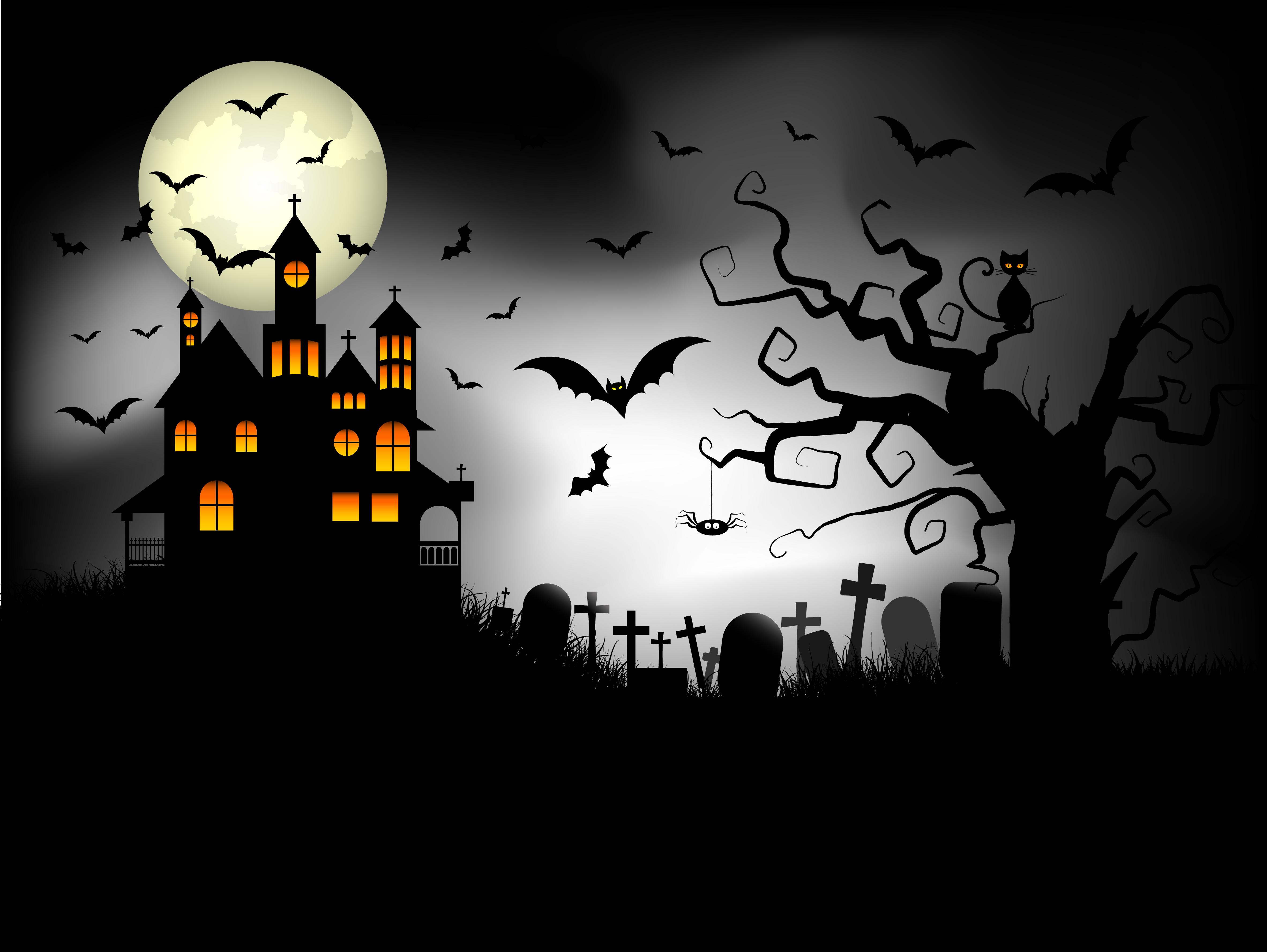 Spooky Halloween background - Download Free Vectors ...
