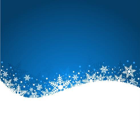 Blauwe sneeuwvlok achtergrond