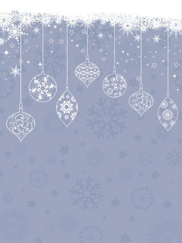 Fondo de decoraciones de Navidad