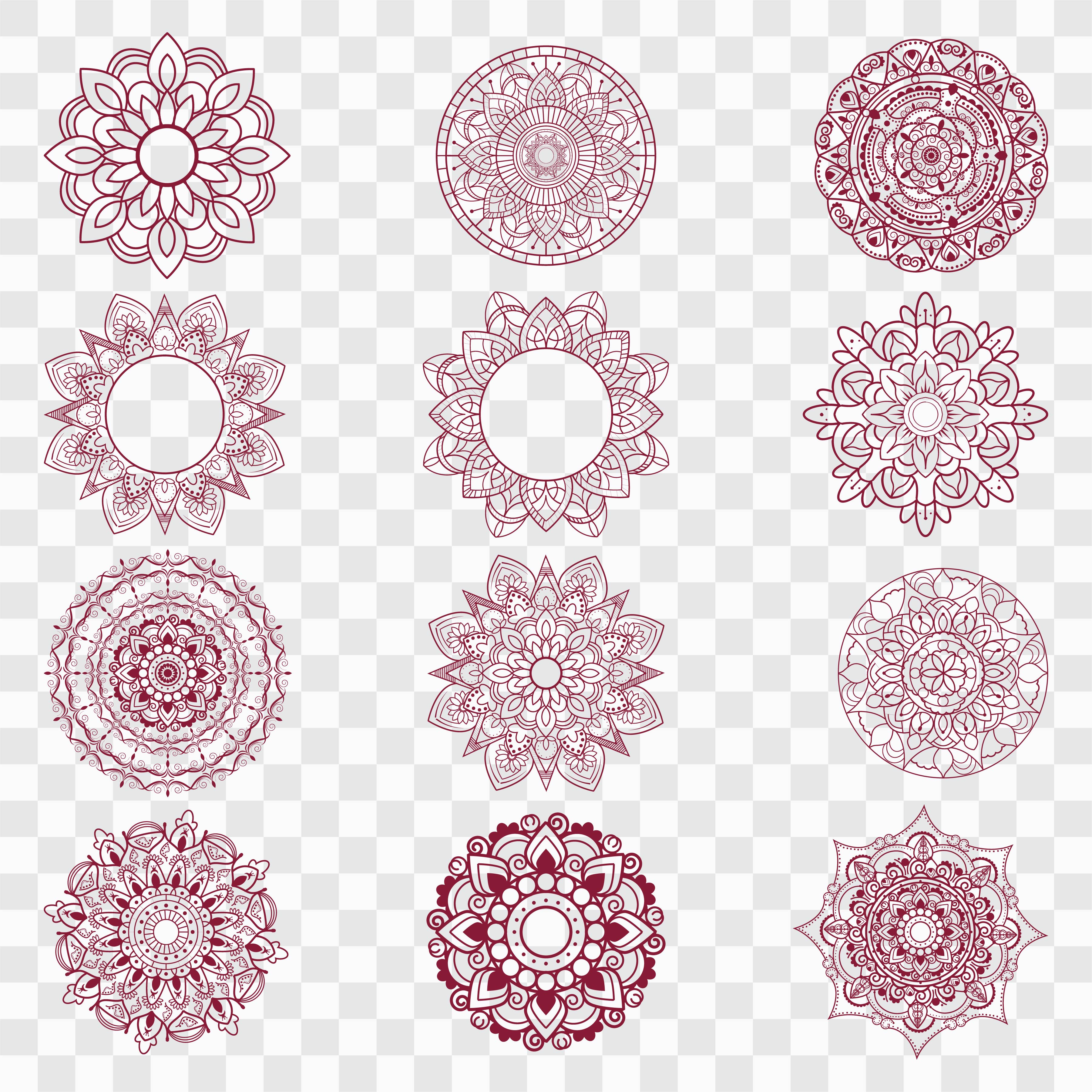 Modern Mandala Designs Set 237183