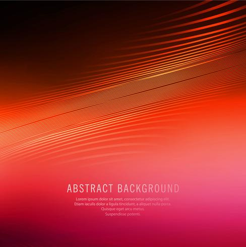 Arrière-plan de vague ligne coloré brillant abstrait vecteur