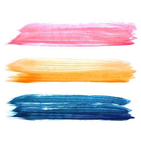 De abstracte hand trekt kleurrijk watercolroslagen geplaatst ontwerp