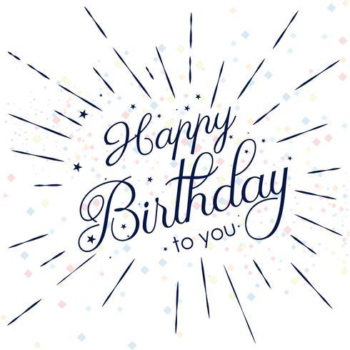 Resumen tarjeta de feliz cumpleaños fondo decorativo vector