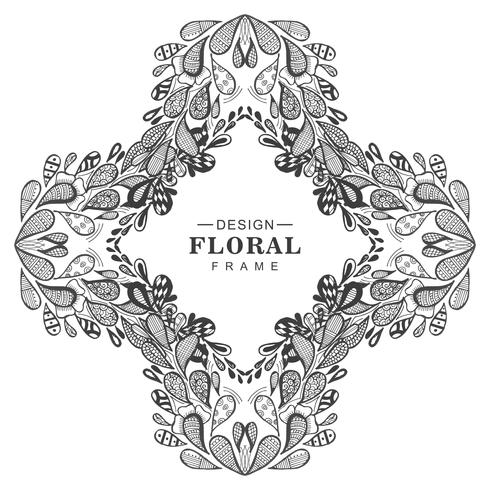 Abstract decorative floral frame background