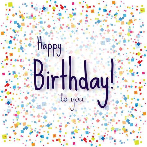 Moderno feliz cumpleaños colorido confeti fondo vector