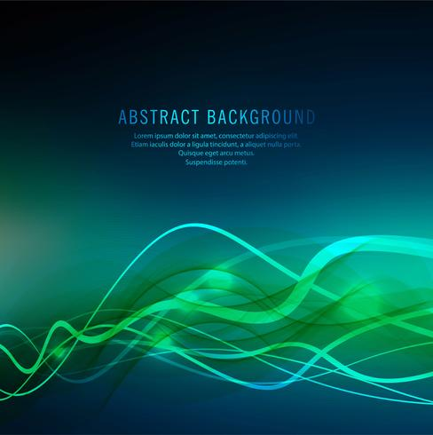 Abstract blue colorful wave backgrond vector