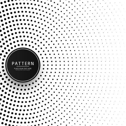 Circular halftone pattern background