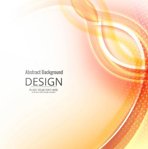Hermoso colorido elegante fondo de onda vector