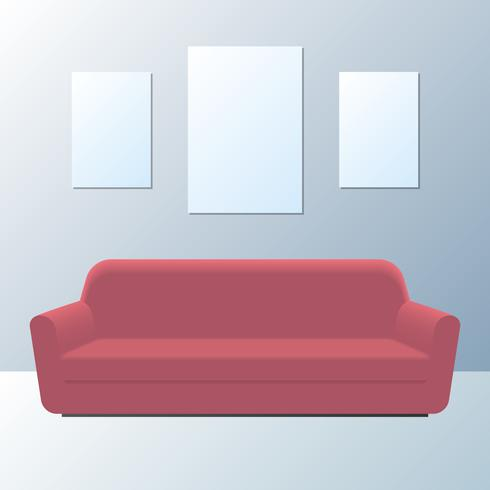 Gemütliche moderne Wohnzimmer Interior Design Elements vektor