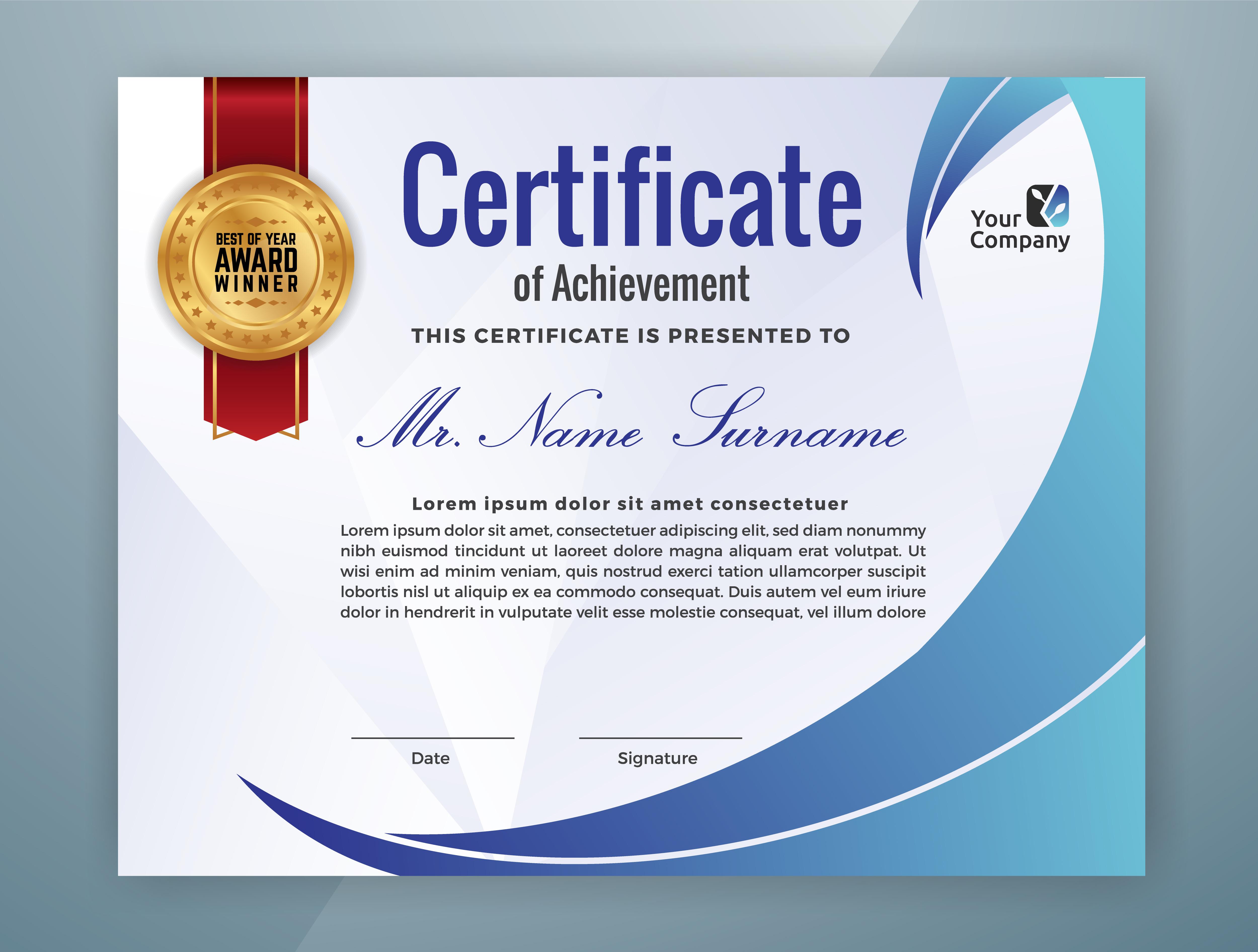 Multipurpose Professional Certificate Template Design ...