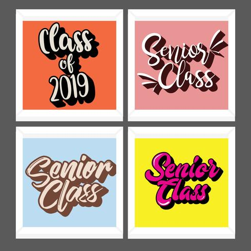 Senior Class Typography Vector Pack