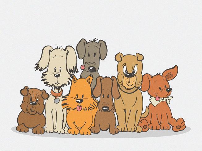 Hundfamiljfärgad klotterteckning