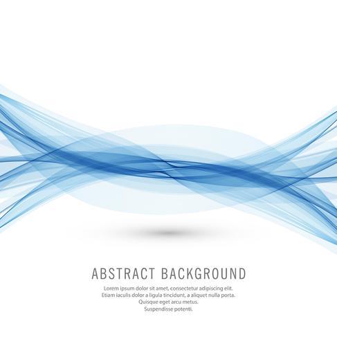 Negócio abstrato azul onda de fundo