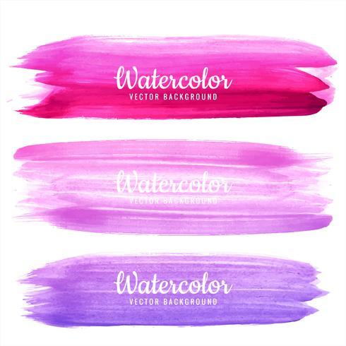 Moderna färgstarka tecknade vattenfärgsträckor