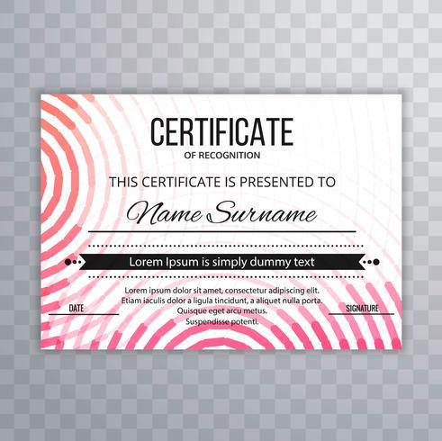 Modern colorful certificate template design