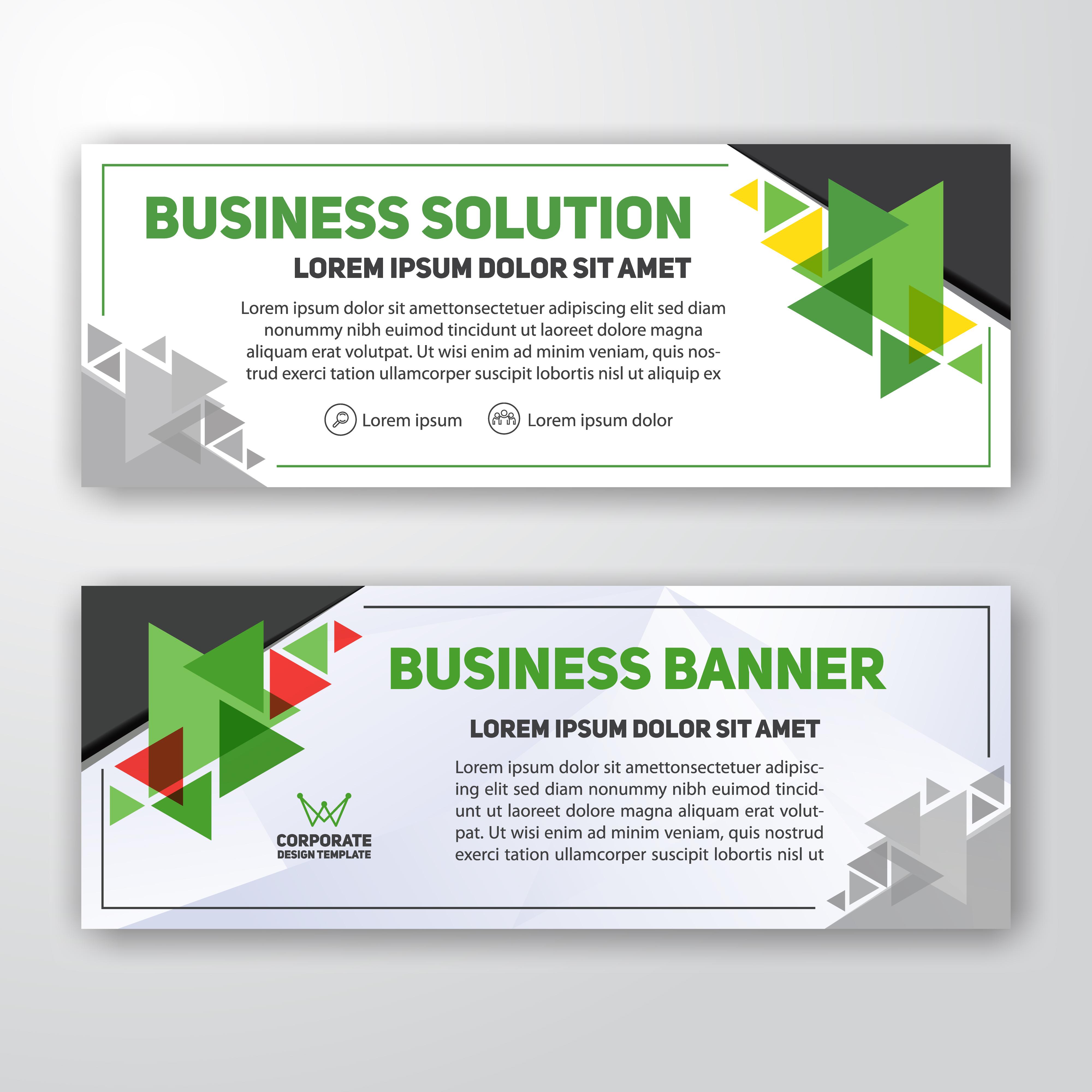 Contoh Spanduk: Modern Corporate Banner Background Design