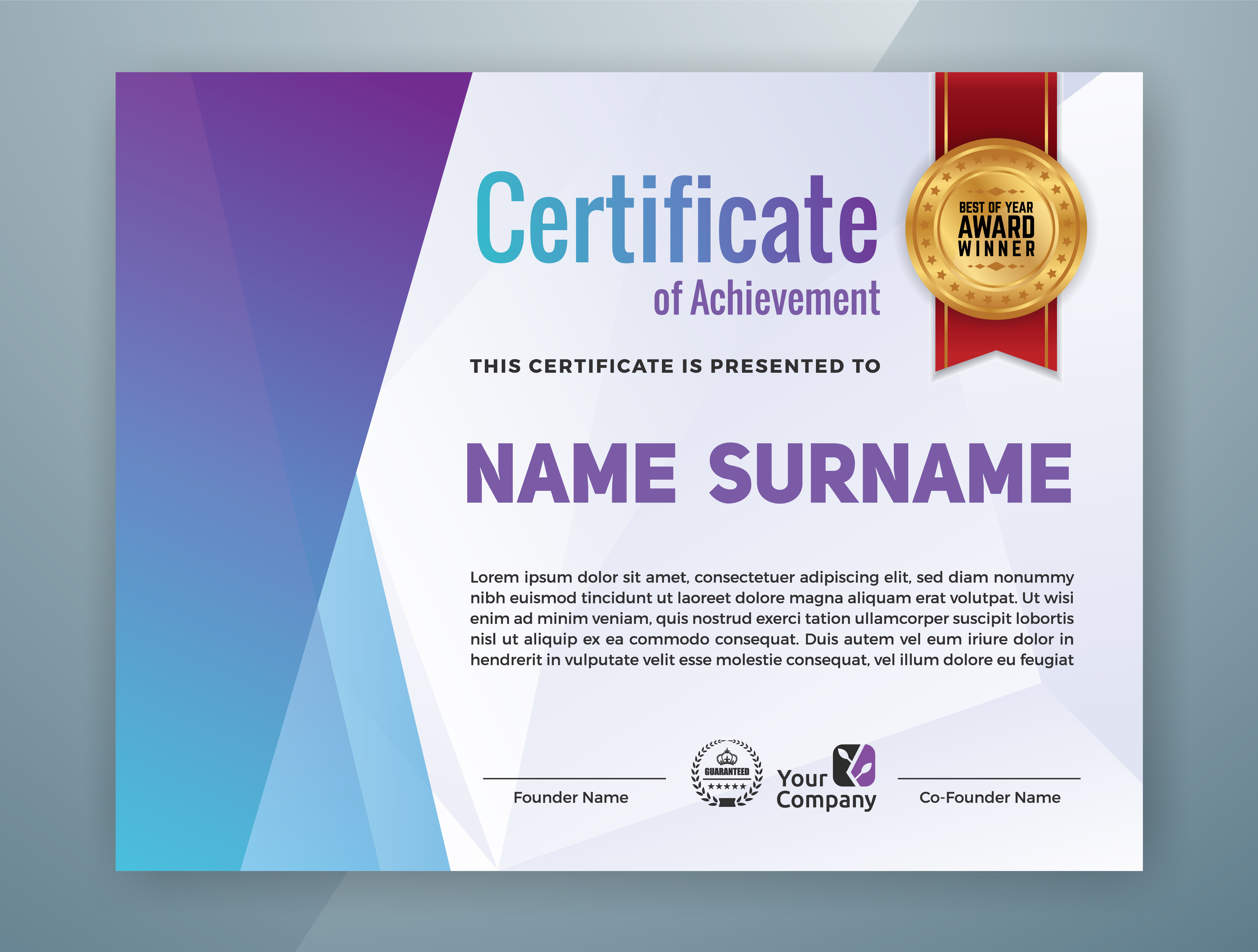 Multipurpose Professional Certificate Template Design Download