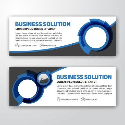 Modern företags banner bakgrundsdesign