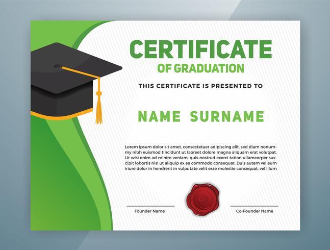 Multifunctioneel professioneel certificaatsjabloonontwerp vector