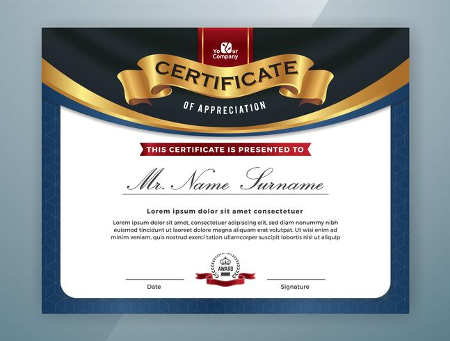 Multipurpose Professional Certificate Template Design vector