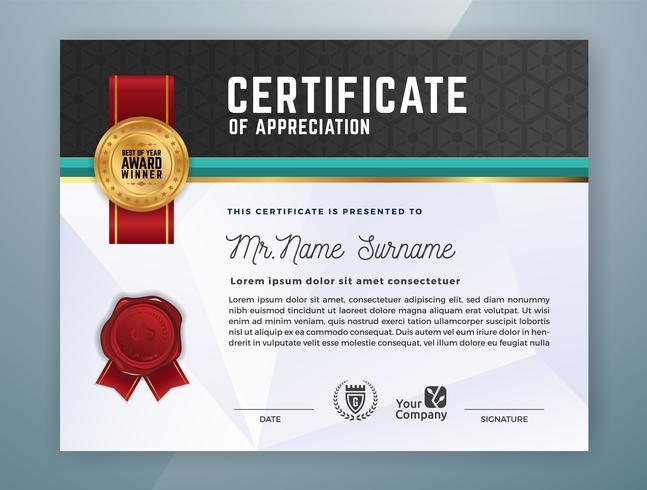 Diseño de plantilla de certificado profesional multipropósito