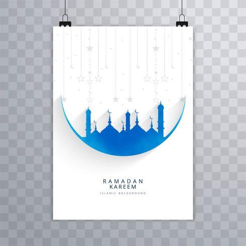 Schöner islamischer Broschürenhintergrund Eid Mubarak
