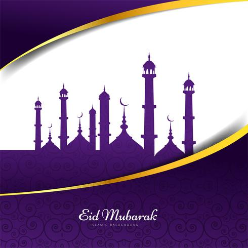 Diseño de fondo islámico Eid Mubarak vector