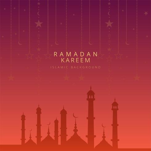 Beau vecteur de carte kadem Ramadan