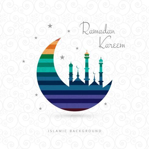 Modern ramadan kareem moon background