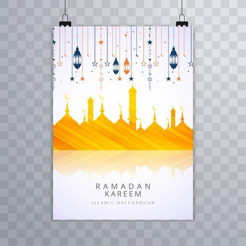 Elegant Ramadan kareem religiös broschyr kort mall