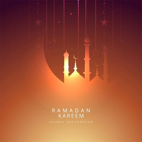 Elegant Ramadan Kareem religiös iskamisk bakgrund