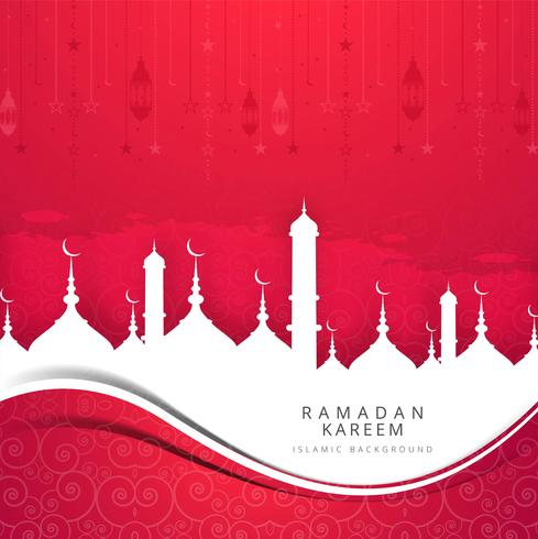 Beau fond de carte Ramadan Kareem vecteur