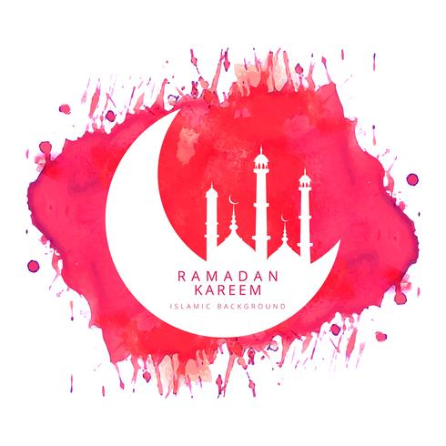 Vacker Ramadan Kareem islamisk bakgrunds vektor
