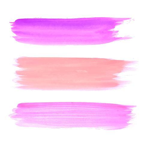 Elegant vattenfärg stroke design set vektor