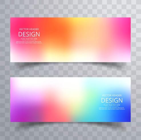 Set de bannières colorées abstraites