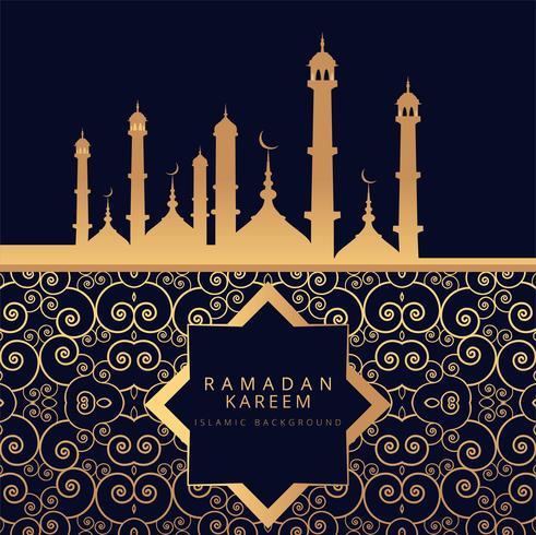 Ramadan Kareem sfondo religioso vettore