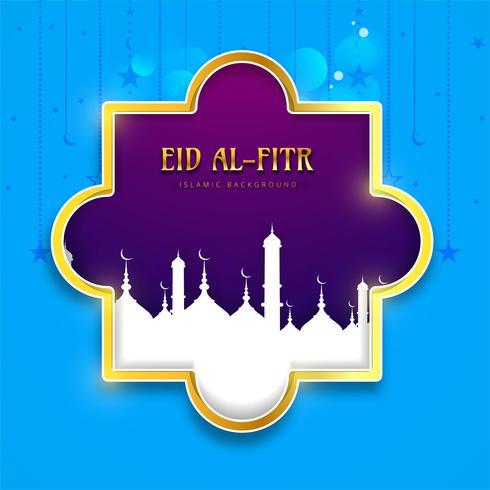 Eid Mubarak design islamico sfondo colorato vettore