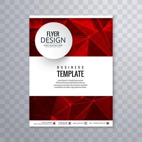 Abstract polygon business brochure template