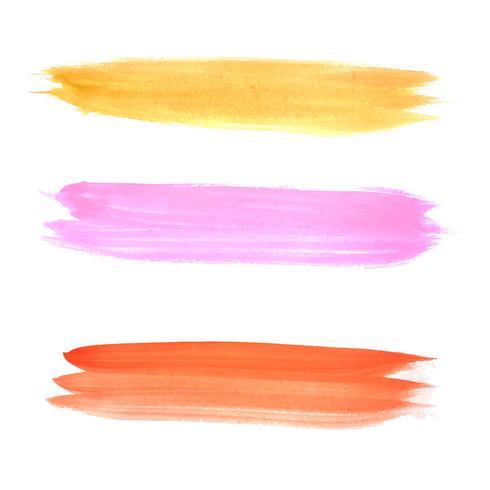 Abstrakt färgstarka hand tecknad akvarell slag inställd design