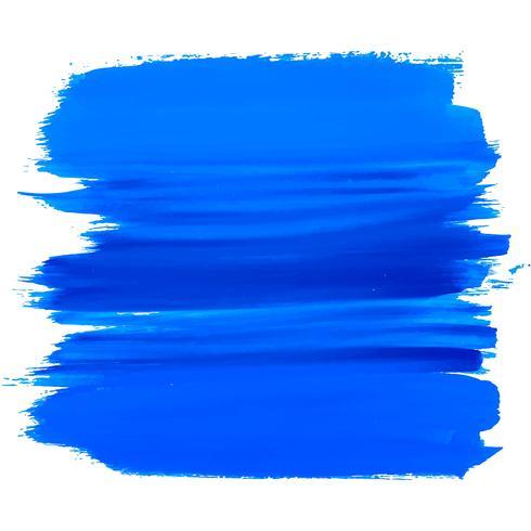 Elegant  blue watercolor stroke design