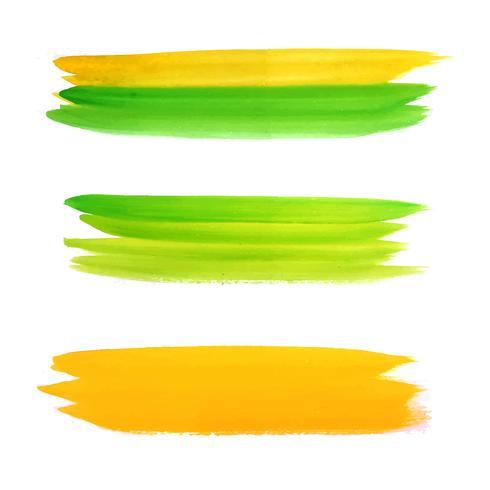 Modern colorful watercolor strokes set vector