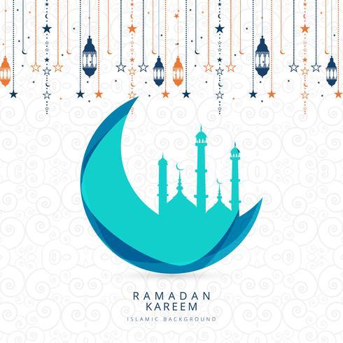 Vettore religioso dell'illustrazione del fondo di Ramadan Kareem