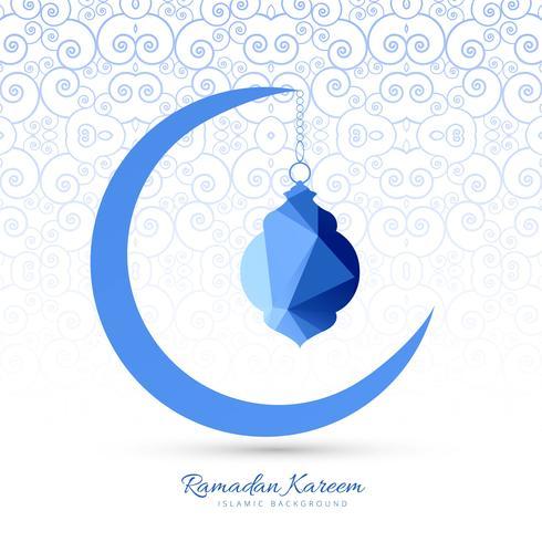 Ramadan Kareem elegante luna creativa de fondo vector