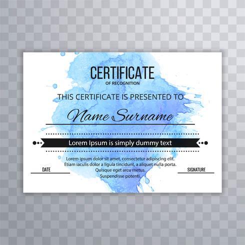 Abstrakt certifikat design mall vektor