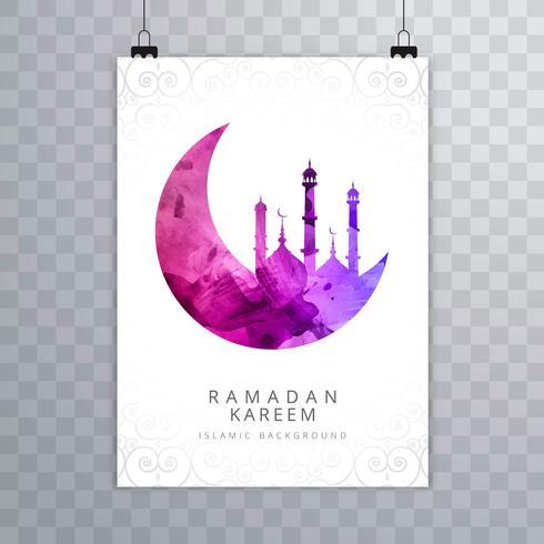 Design de brochura de cartão elegante Ramadan Kareem vetor