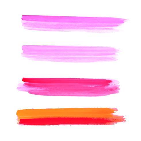 Abstrakt färgrik hand rita akvarell stroke bakgrund