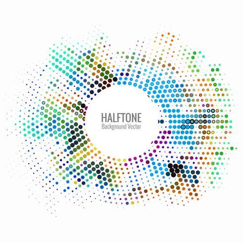 Abstracte kleurrijke halftone achtergrond vector